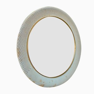 Modernist French Round Mirror, 1950s