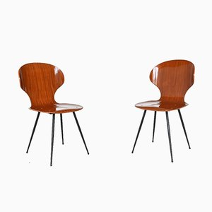 Plywood Teak Dining Chairs by Carlo Ratti for Lissoni, 1950s, Set of 6
