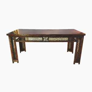 Antique Qing Dynasty Bamboo and Elmwood Console Table