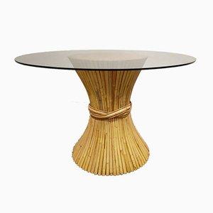Bambus Esstisch von McGuire, 1980er