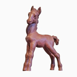Burnished Foal Figurine from Wormser Terra Sigillata