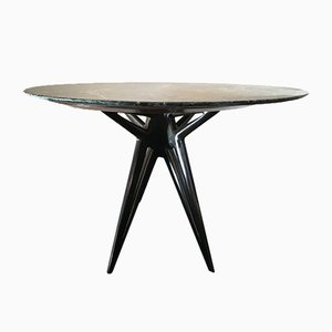Mid-Century Green Marble Topped Dining Table by Ico Parisi, 1950s