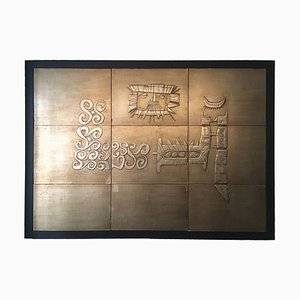 Embossed Bas-Relief from the Cruise Ship Star Oceanis by Emanuele Luzzato, 1965, Set of 2