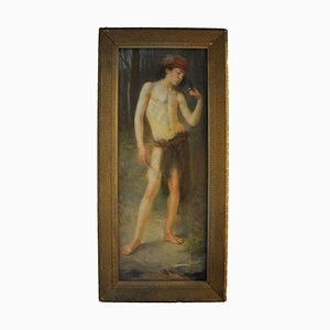 Albert Dumoulin, Großes Pastell Gemälde, 1910