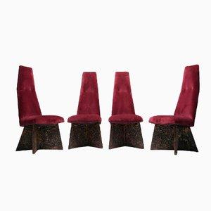 Brutalistische Esszimmerstühle von Adrian Pearsall für Craft Associates, 4er Set