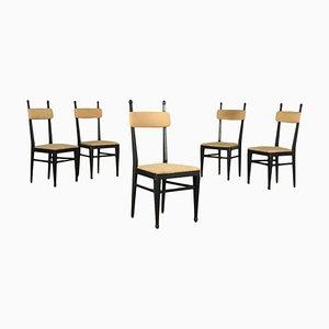 Sedie da pranzo, anni '60, set di 5
