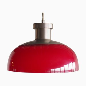 Red Pendant Lamp 4017 by Achille Castiglioni for Kartell