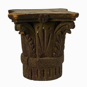 Antique Italian Gilded Wooden Capital