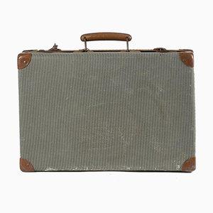 Karierter Koffer aus Grünem Holz, Italien, 1950er