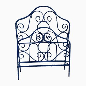 Italian Wrought Square Iron Bed, 1900s