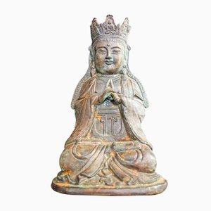 Vintage Crown Buddha Statue, China, 1960s