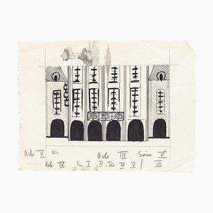 Mathéos Alkis - Szenografie Studie - Originalzeichnung auf Papier von Mathéos Alkis - 20. Jahrhundert