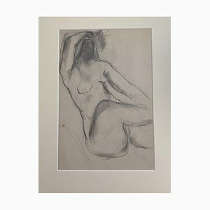 Herta Hausmann - Nude Woman - Original Pencil Drawing by Herta Hausmann - 20th Century