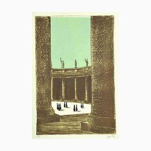 Fabio Failla - St. Peter's Square - Original Lithograph by Fabio Failla - 1980s