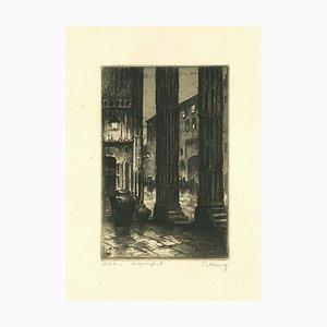 Paul Menni - Assisi - Original Radierung von Paul Menni - 20. Jahrhundert