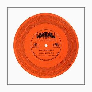 B-seitige Vinylsammlung, dreiunddreißig und ein Drittel - Pop-Art-Farbfotografie 2016