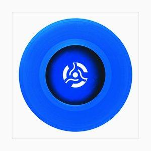 Colección de vinilo del lado B, grabación en azul Cobolt - Fotografía en color de arte pop 2016