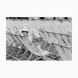 Quiosco de música Iii, Eastbourne, Reino Unido - fotografía vintage en blanco y negro, 1985