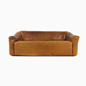 DS 47 Buffalo Leather Three Seater Sofa from De Sede, 1970s