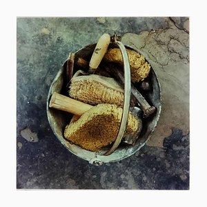 Stonemason's Bucket, Northwich - Industrial British Color Photography 1986