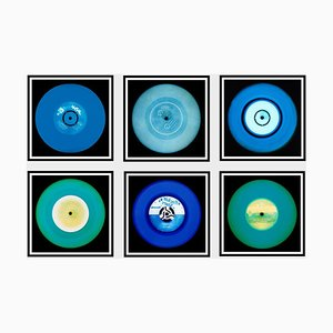 Vinyl Collection Six Piece Blues Installation, Pop Art Color Photography, 2017