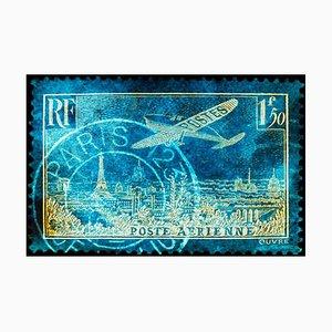 Briefmarkensammlung, Ein Kunstwerk aus Paris - Blue Conceptual Color Photography 2017