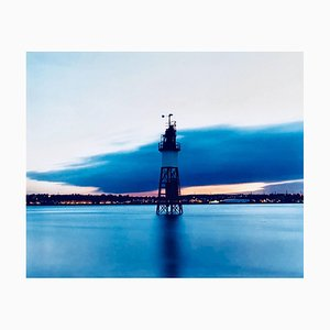 Lighthouse, Stone Ness, Purfleet - English Waterscape Color Photography 2004