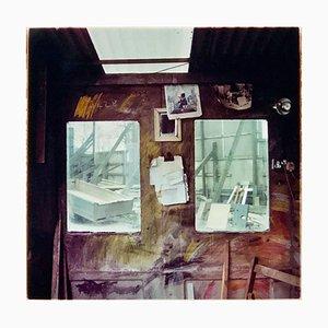 Stonemason's Workshop, Northwich - British Industrial Interior Color Photography 1986
