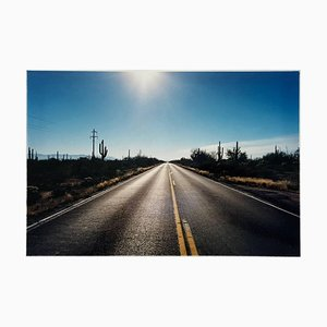Road To Gunsight, Highway 86, Arizona - American Landscape Color Photography 2001