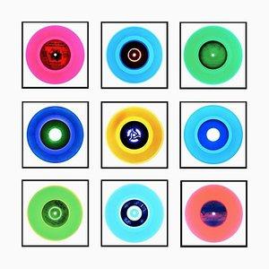 Vinyl Collection, Neun Stück B Installation (Nr.3) - Pop Art Color Photo 2017