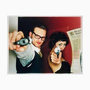 Michael & Delilah, der Furzclub, London - Filmische Farbfotografie 2004