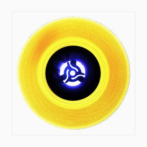 B Side Vinyl Collection, A Canary Yellow, Conceptual Pop Art Color Photography, 2016