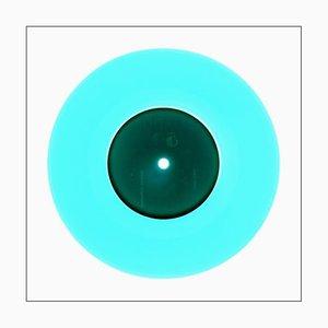B Side Vinyl Collection, Reggae Blue, Contemporary Pop Art Color Photography, 2016