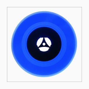 B Side Vinyl Collection, Seventies Blue, Contemporary Pop Art Color Photography, 2016