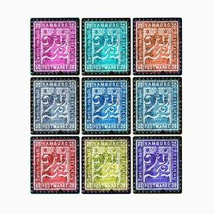 Briefmarkensammlung, 1864 Hamburg (Mehrfarbige Mosaik Deutsche Briefmarken) - Colour Photo 2016