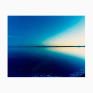 Salt Flats, Bonneville, Utah - Blue Landscape Color Photography 2002