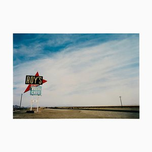 Roy''s Motel - Route 66, Amboy, California - American Landscape Color Photography 2001