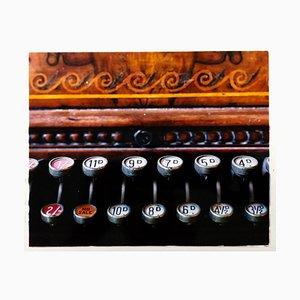Cash Register, Stockton-on-tees - Vintage Carved Wood Register Color Photography 2009