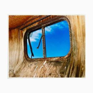 Trailer Window, Bombay Beach, Salton Sea, California - American Color Photograph 2003