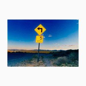 5mph, Rhyolite, Nevada - American Landscape Color Photography 2000