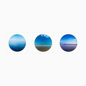 Porthole Trio - Contemporary, Circle, Waterscape Color Photography 2017