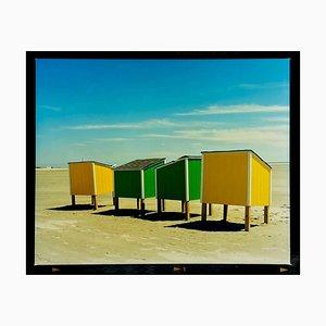 Armadietti da spiaggia, Wildwood, New Jersey - Fotografia a colori costiera americana, 2013
