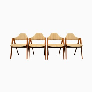 Compass Dining Chairs by Kai Kristiansen for Schou Andersen, 1960s, Set of 4