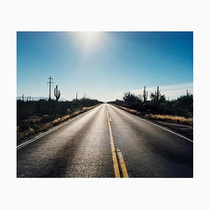Road To Gunsight, Highway 86, Arizona - Amerikanische Landschaft Farbfotografie 2003