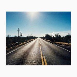 Strada To Gunsight, Highway 86, Arizona - American Landscape Color Photography 2003