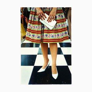 Sac à Main Blanc, Goodwood, Chichester - Mode Féminine, Photographie Couleur 2009
