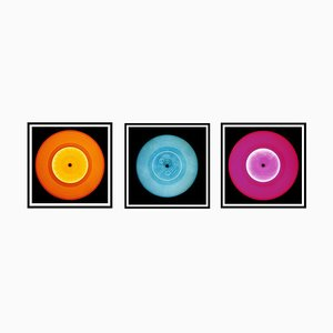 Vinyl Collection - Orange, Blau, Pink Trio - Pop Art Farbfotografie 2014-2017