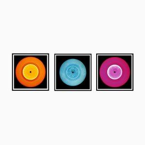Vinyl Collection - Orange, Blue, Pink Trio - Pop Art Color Photography 2014-2017