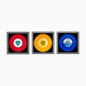 Vinyl Collection - Rot, Gelb, Blau Trio - Pop Art Farbfotografie 2014-2017