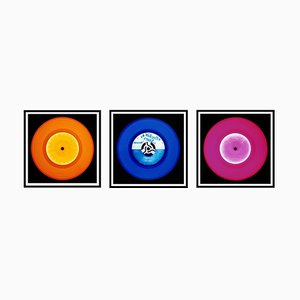 Vinyl Collection - Orange, Blau, Pink Trio - Pop Art Farbfotografie 2014-2017
